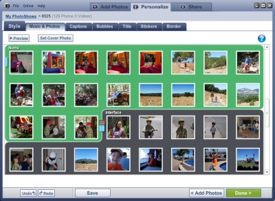 Слайди из фотографий в PhotoShow